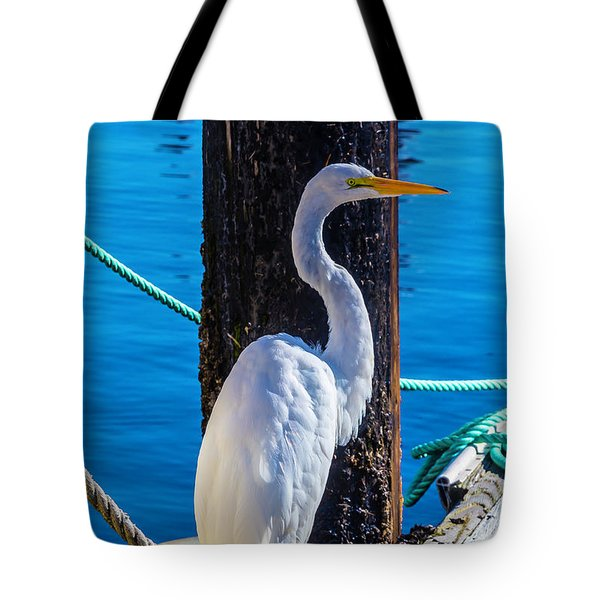 Great White Heron Tote Bag by Garry Gay