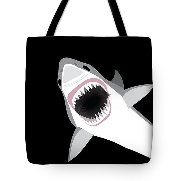 Great White Shark Tote Bag by Antique Images