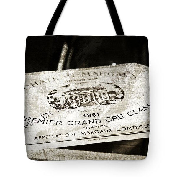 Great Wines Of Bordeaux - Chateau Margaux 1961 Tote Bag by Frank Tschakert