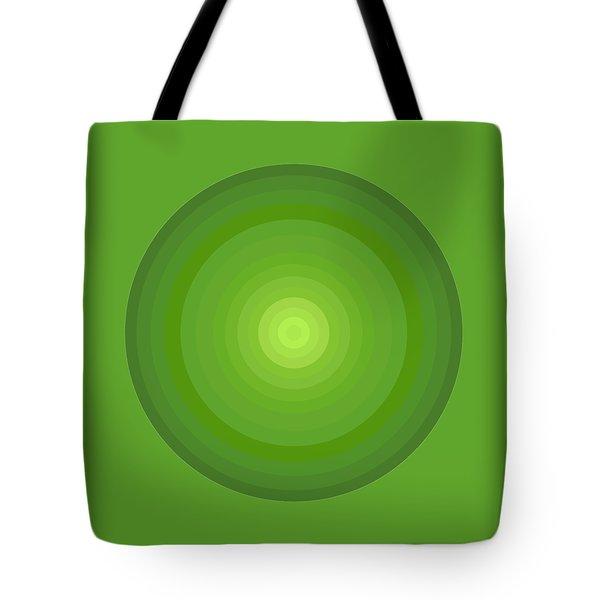 Green Circles Tote Bag by Frank Tschakert