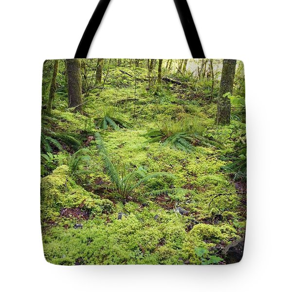 Green Foliage On The Forest Floor Tote Bag by Craig Tuttle