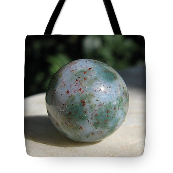 Green jasper Tote Bag by Andonis Katanos