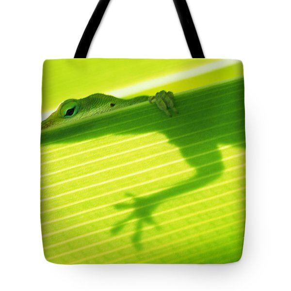 Green Lizard Tote Bag by Bill Brennan - Printscapes