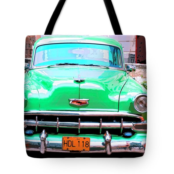 Green Machine Tote Bag by Dominic Piperata