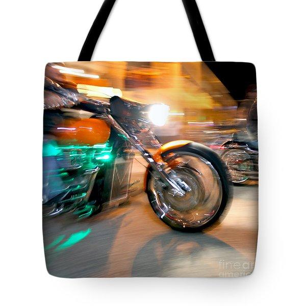 Green Machine Tote Bag by Glennis Siverson