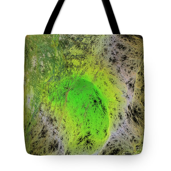Green On Center Stage Tote Bag by Deborah Benoit