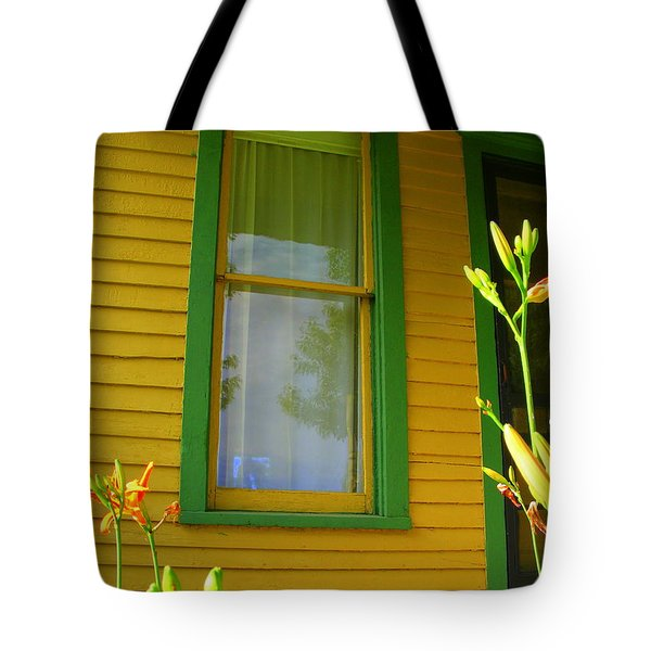Green Window Tote Bag by Ed Smith