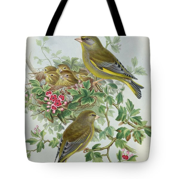 Greenfinch Tote Bag by John Gould