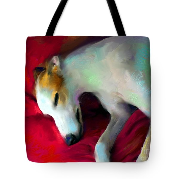 Greyhound Dog Portrait Tote Bag by Svetlana Novikova