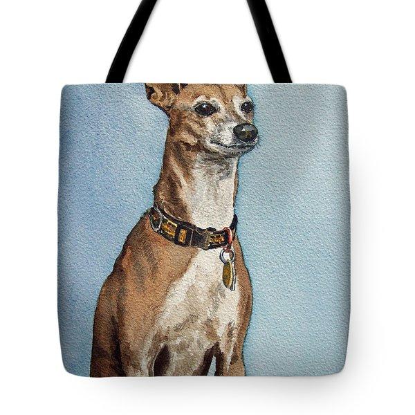 Greyhound Tote Bag by Irina Sztukowski