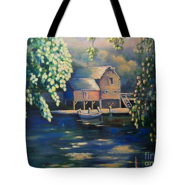 Grist Mill 2 Tote Bag by Marlene Book