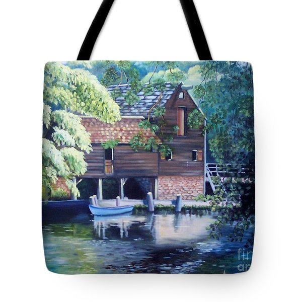 Grist Mill Philipsburg Ny Tote Bag by Marlene Book
