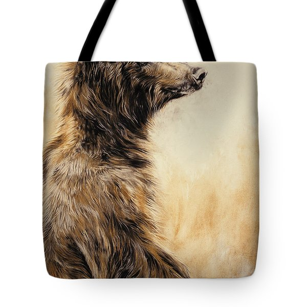 Grizzly Bear 2 Tote Bag by Odile Kidd