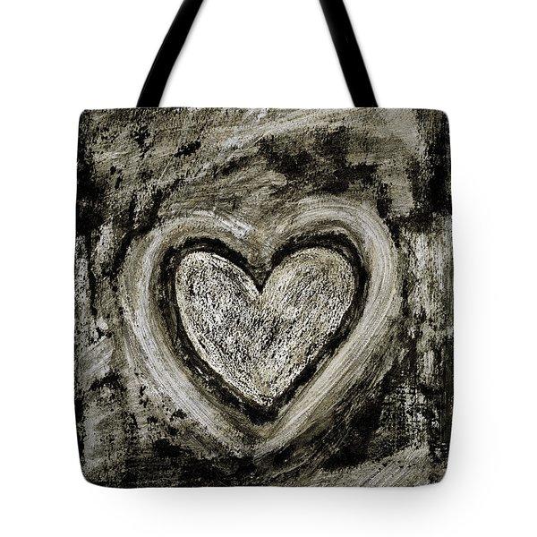 Grunge Heart Tote Bag by Frank Tschakert