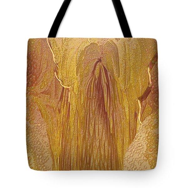 Guardian Angel Tote Bag by Linda Sannuti
