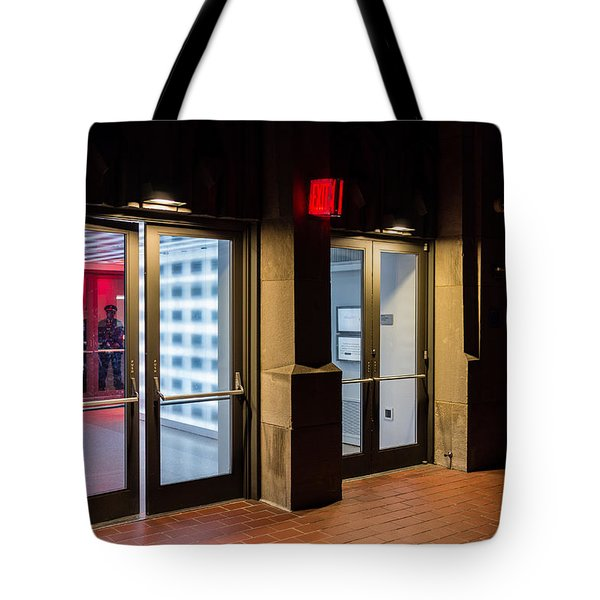 Tote Bag featuring the photograph Guarding The Door by M G Whittingham