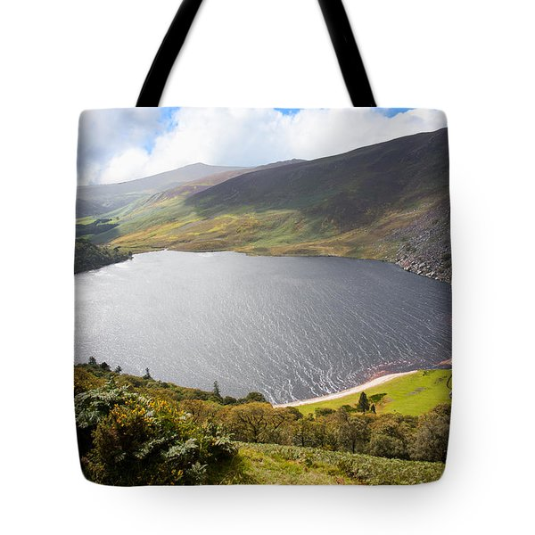 Guinness Lake In Wicklow Mountains  Ireland Tote Bag by Semmick Photo
