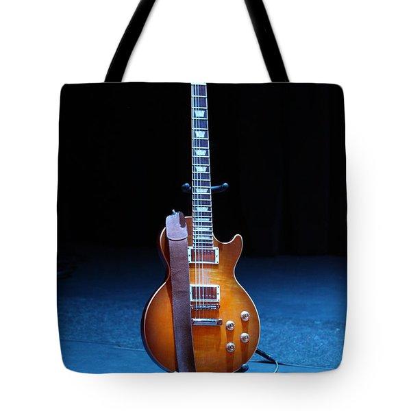 Guitar Blue Tote Bag by Lauri Novak