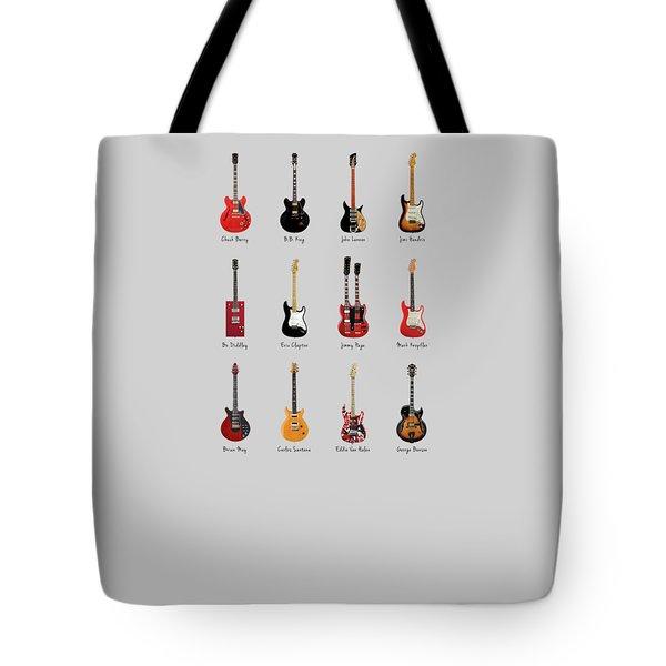Guitar Icons No1 Tote Bag by Mark Rogan