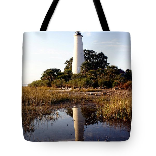 Gulf Coast Lighthouse Tote Bag by Marty Koch