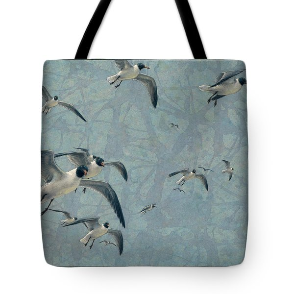 Gulls Tote Bag by James W Johnson