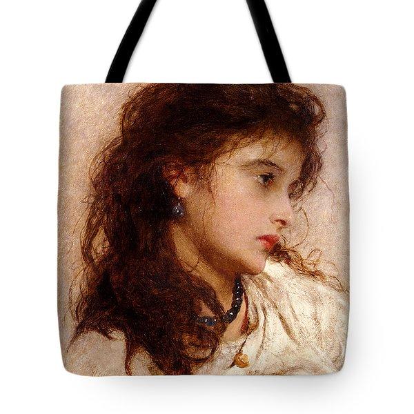 Gypsy Girl Tote Bag by George Elgar Hicks
