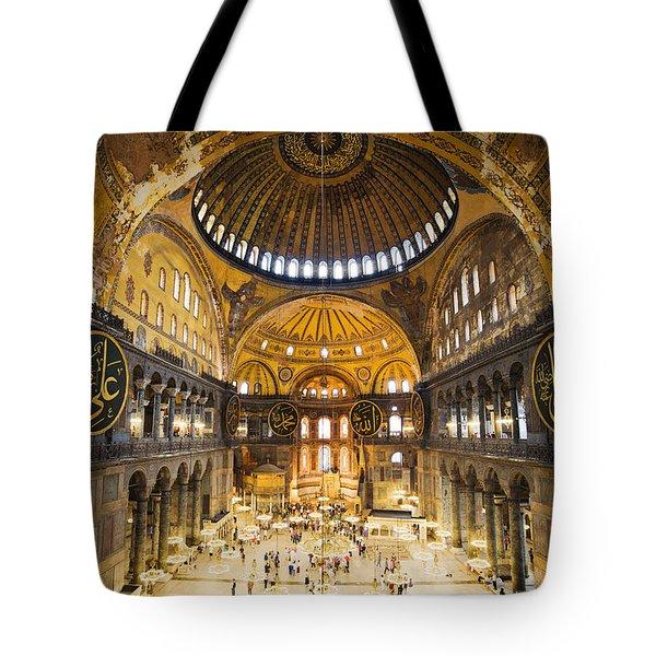 Hagia Sophia Interior Tote Bag by Artur Bogacki
