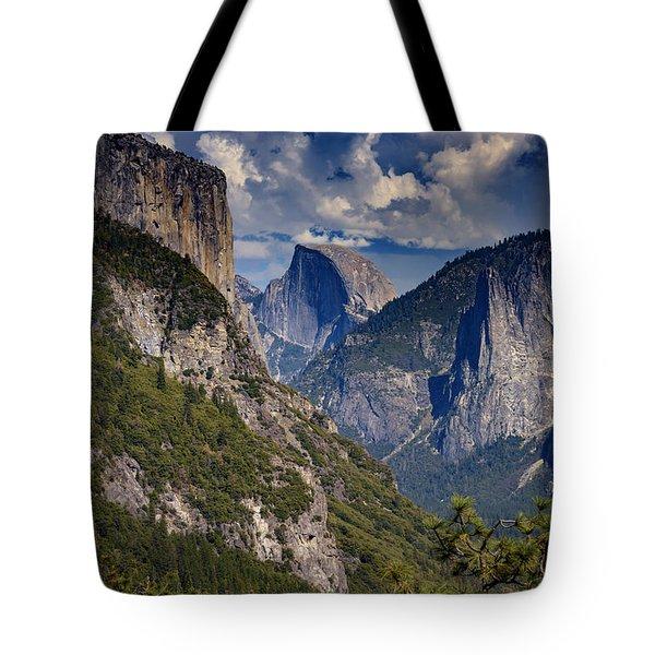Half Dome And El Capitan Tote Bag by Rick Berk