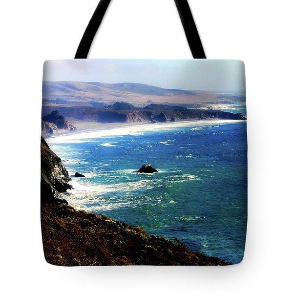Half Moon Bay Tote Bag by Karen Wiles