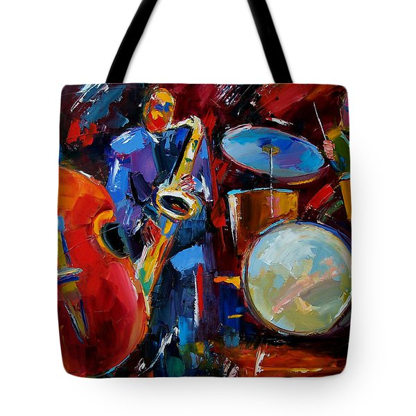 Half The Band Tote Bag by Debra Hurd