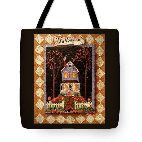 Halloween Hill Tote Bag by Catherine Holman