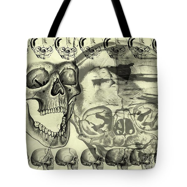 Halloween In Grunge Style Tote Bag by Michal Boubin