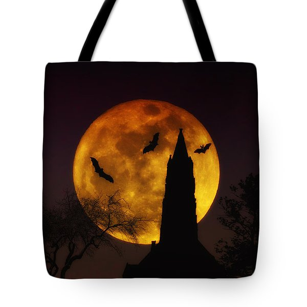 Halloween Moon Tote Bag by Bill Cannon