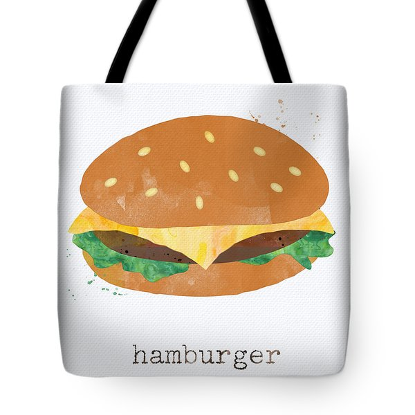 Hamburger Tote Bag by Linda Woods