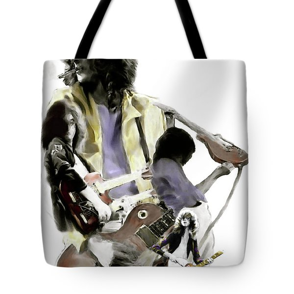 Hammer Of The Gods   Jimmy Page Tote Bag by Iconic Images Art Gallery David Pucciarelli