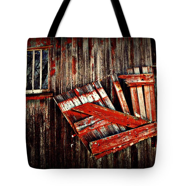 Hanging By A Few Nailss Tote Bag by Julie Hamilton