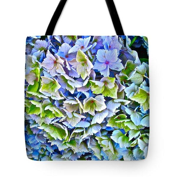 Hanson Hydrangea Tote Bag by Gwyn Newcombe