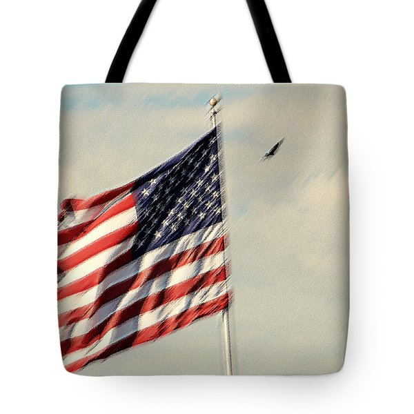 Happy Birthday America Tote Bag by Susanne Van Hulst