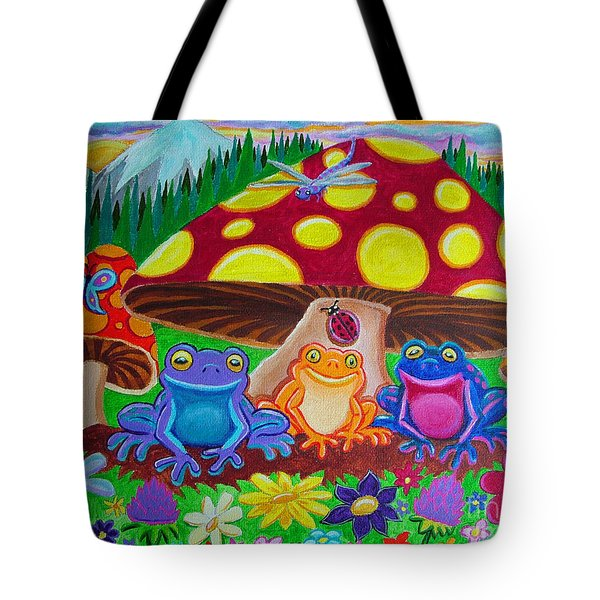 Happy Frog Meadows Tote Bag by Nick Gustafson