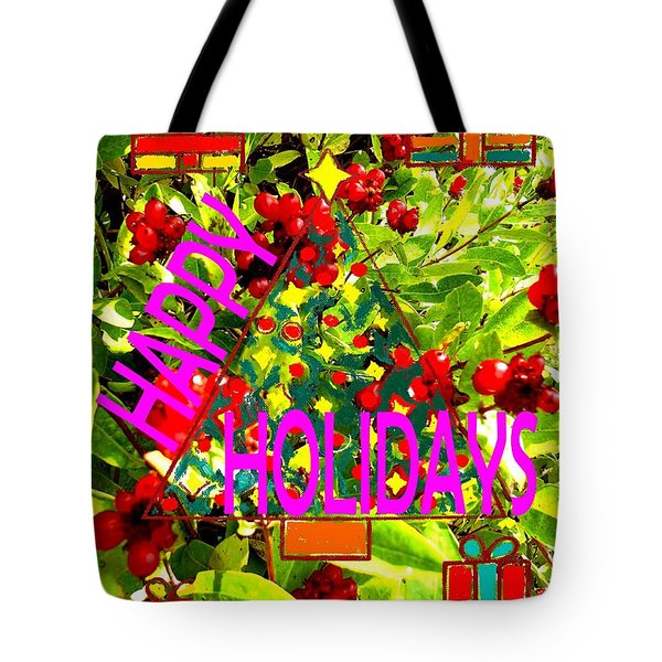 Happy Holidays 9 Tote Bag by Patrick J Murphy