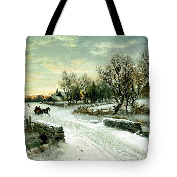 Tote Bag featuring the painting Happy Holidays by Travel Pics