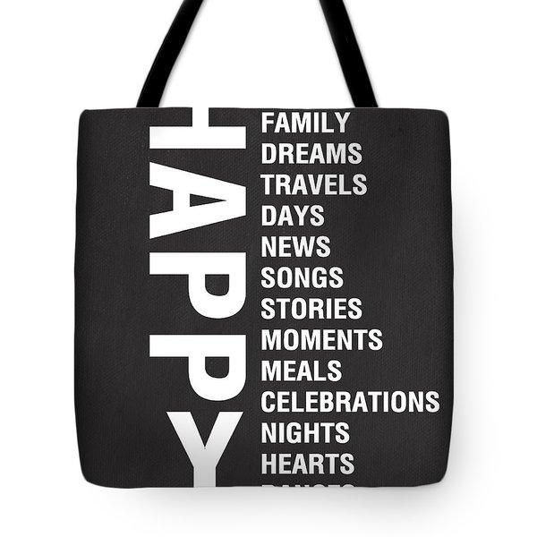 Happy Things Tote Bag by Linda Woods
