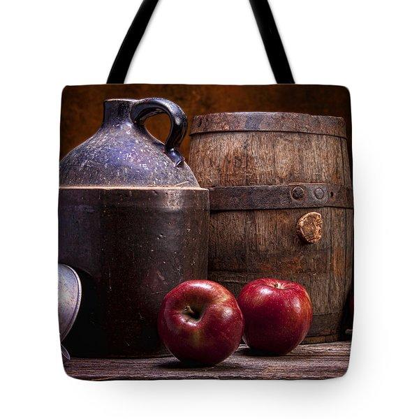 Hard Cider Still Life Tote Bag by Tom Mc Nemar