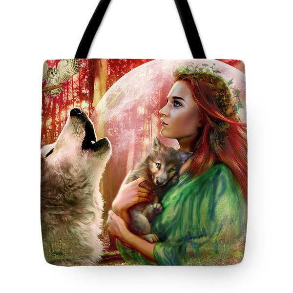 Harest Moon Brethren Variant 2 Tote Bag by Andrew Farley
