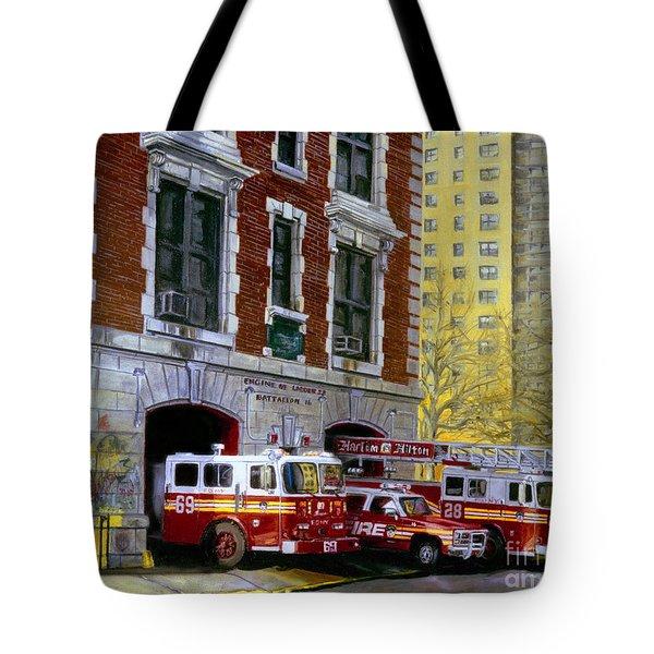 Harlem Hilton Tote Bag by Paul Walsh