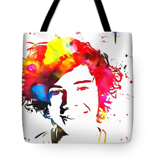Harry Styles Paint Splatter Tote Bag by Dan Sproul