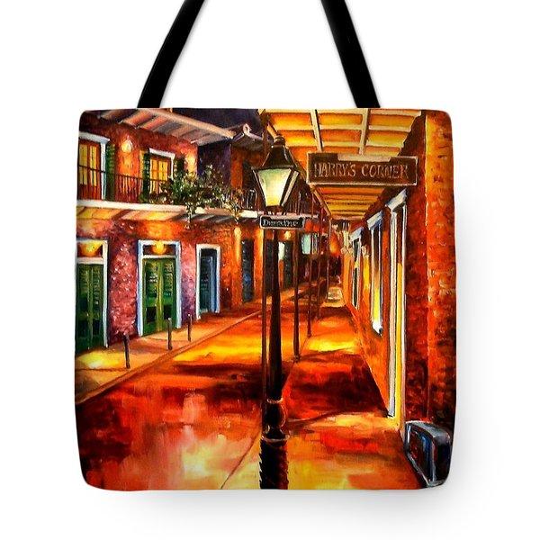 Harrys Corner New Orleans Tote Bag by Diane Millsap