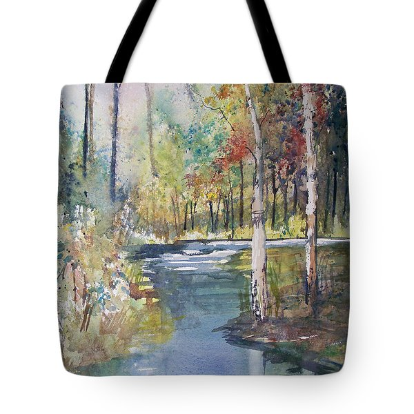 Hartman Creek Birches Tote Bag by Ryan Radke