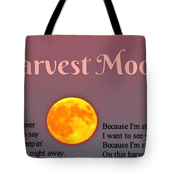 Harvest Moon Song Tote Bag by John Malone