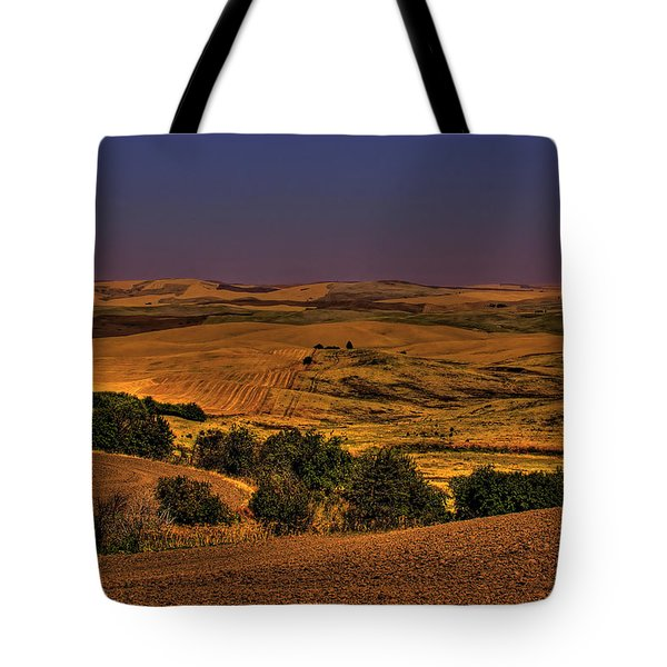 Harvested Fields Tote Bag by David Patterson